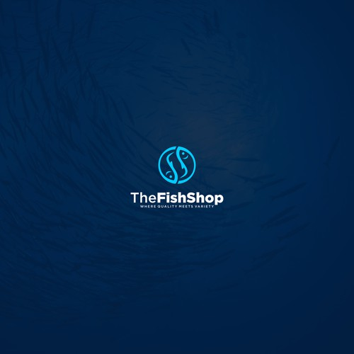 the fish shop logo concept