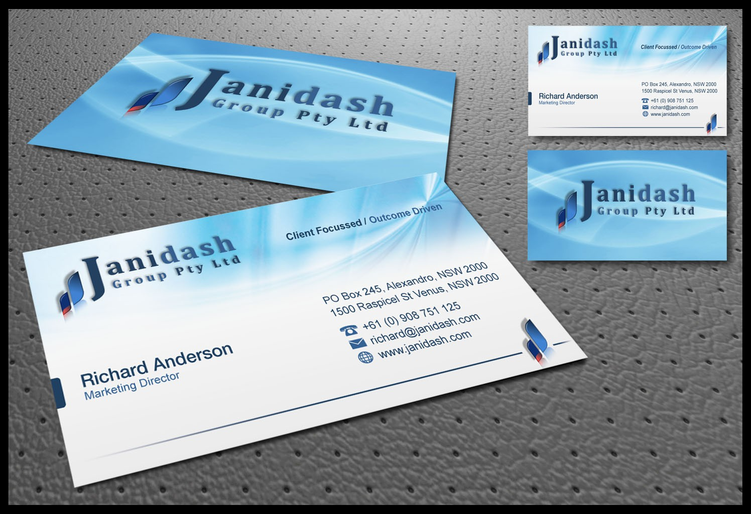 Create the next stationery for Janidash Group Pty Ltd