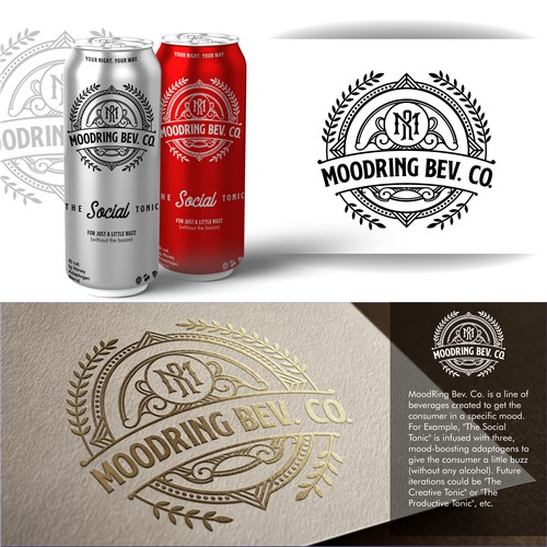 luxury classic logo for beverage products