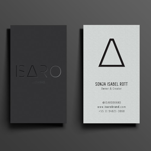 Business card design with spot foil