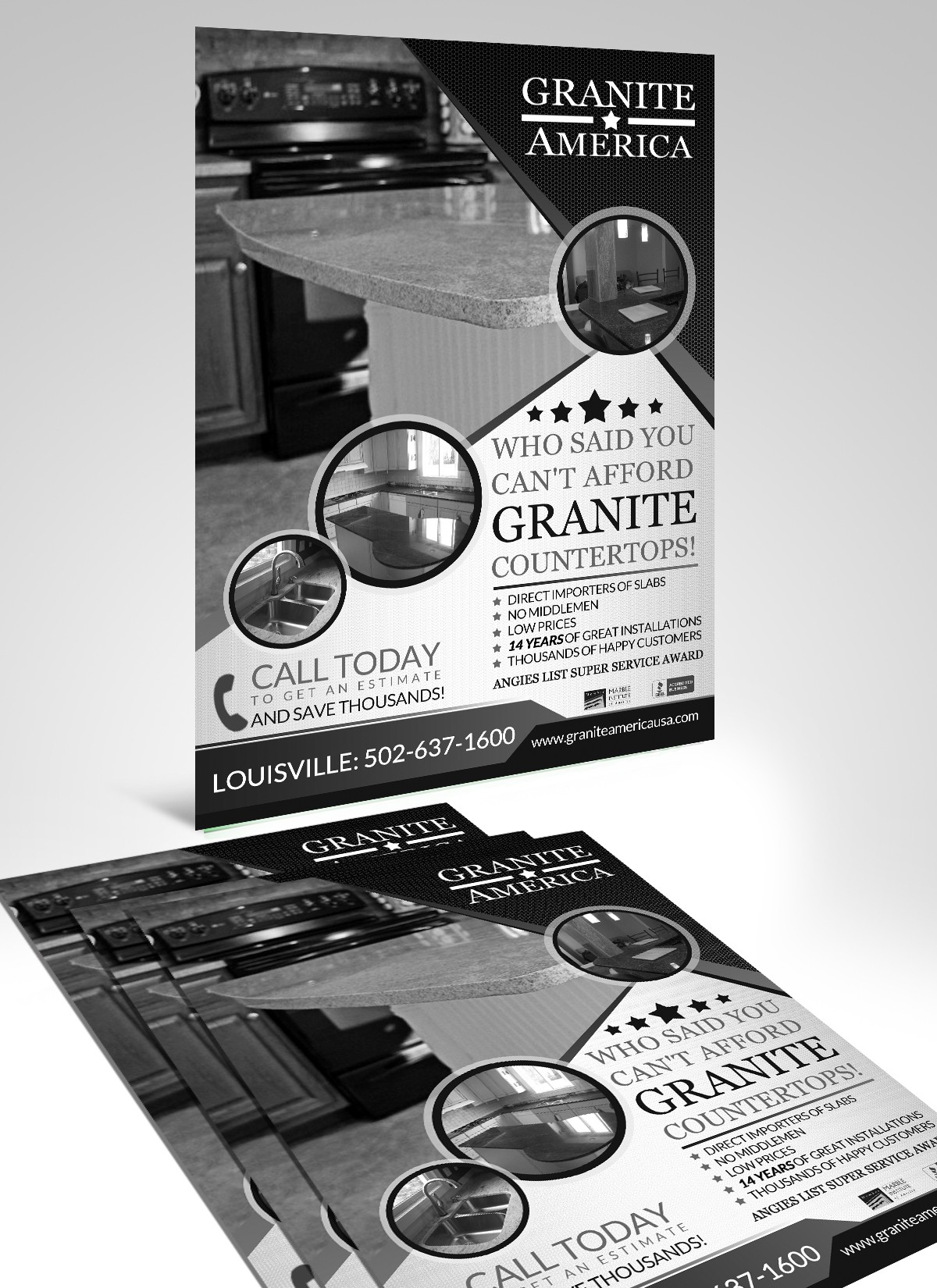 Create the next postcard or flyer for Granite America