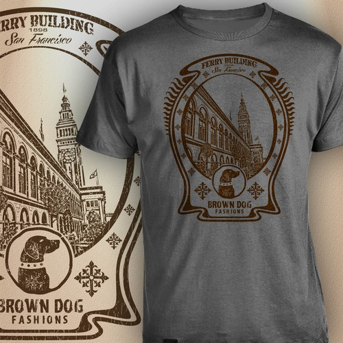 "design submission for ""brown dog"" fashion"