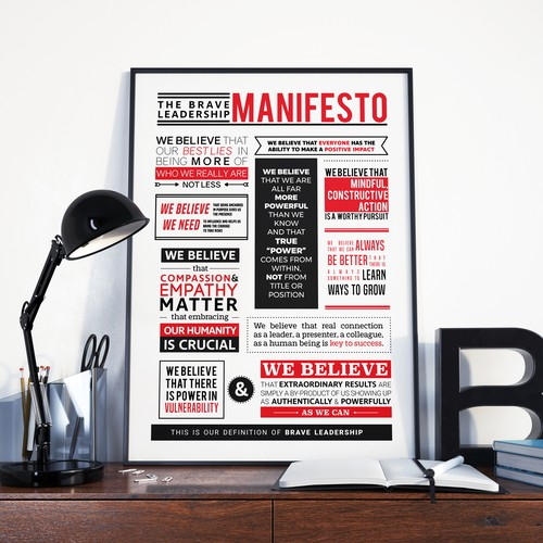 Turn a Manifesto into a gorgeous visual to display.