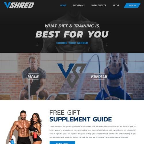 Fitness and Supplement website needs new design