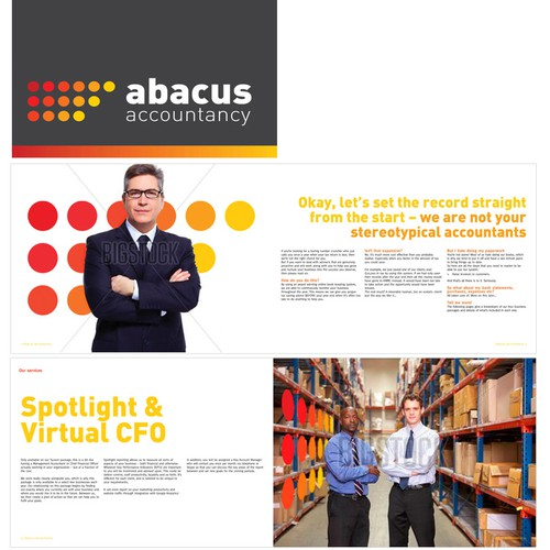 Brochure for accountacy firm