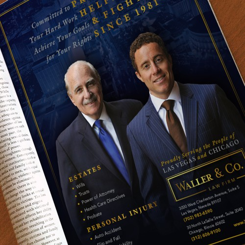 Print Ad for Established Law Firm