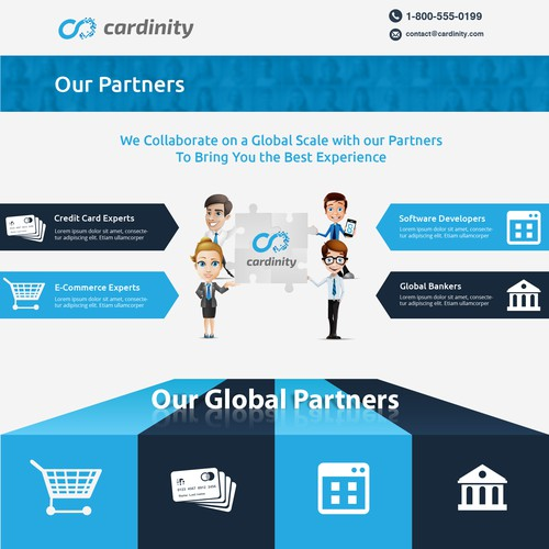 Website for innovative company in credit card payments industry