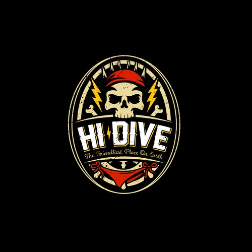 Skull and pirate concept for Hi-Dive Bar