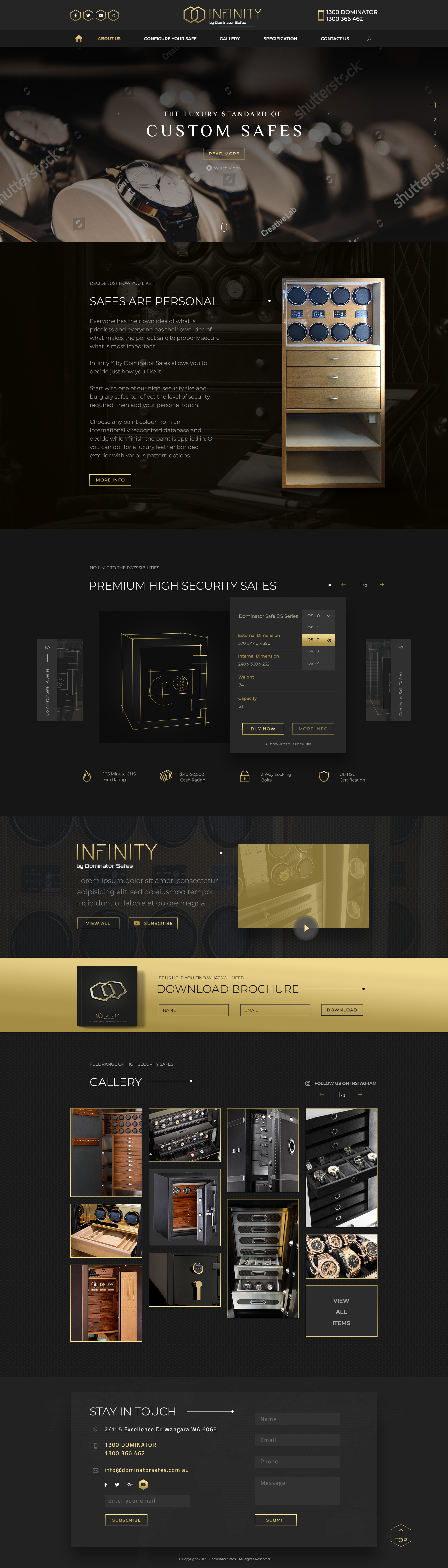 Design a High-End security products website