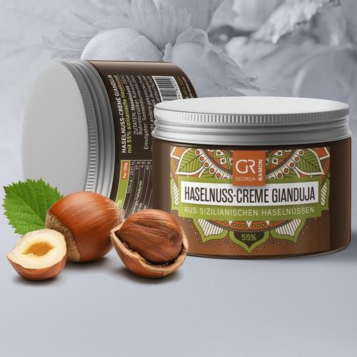 Hazelnuts cream label