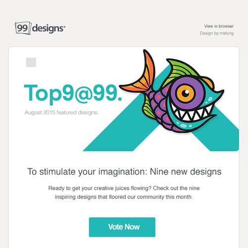 Top 9 at 99designs template