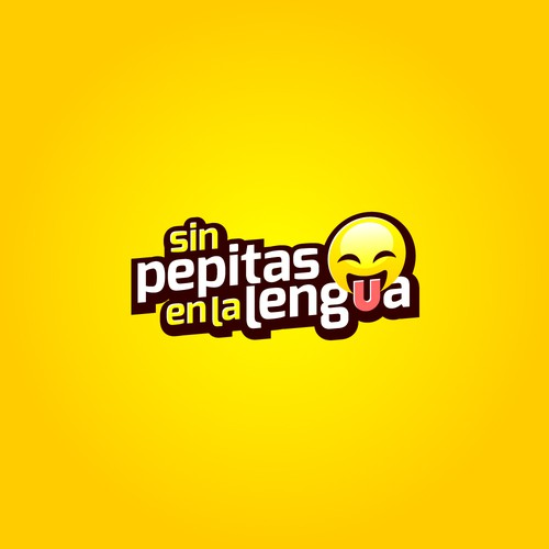 Fun logo concept for the movie Sin Pepitas En La Lengua