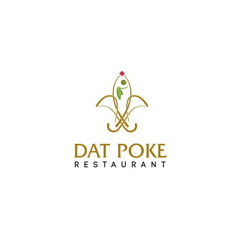 Blod logo concept for Poke restaurant.