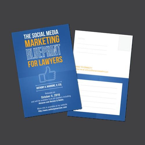 Postcard design for promotion of business.