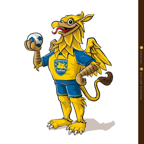 Mascot design for a handball sportsclub
