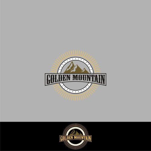 logo concept for golden mountain