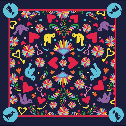 Valentine's day scarf design