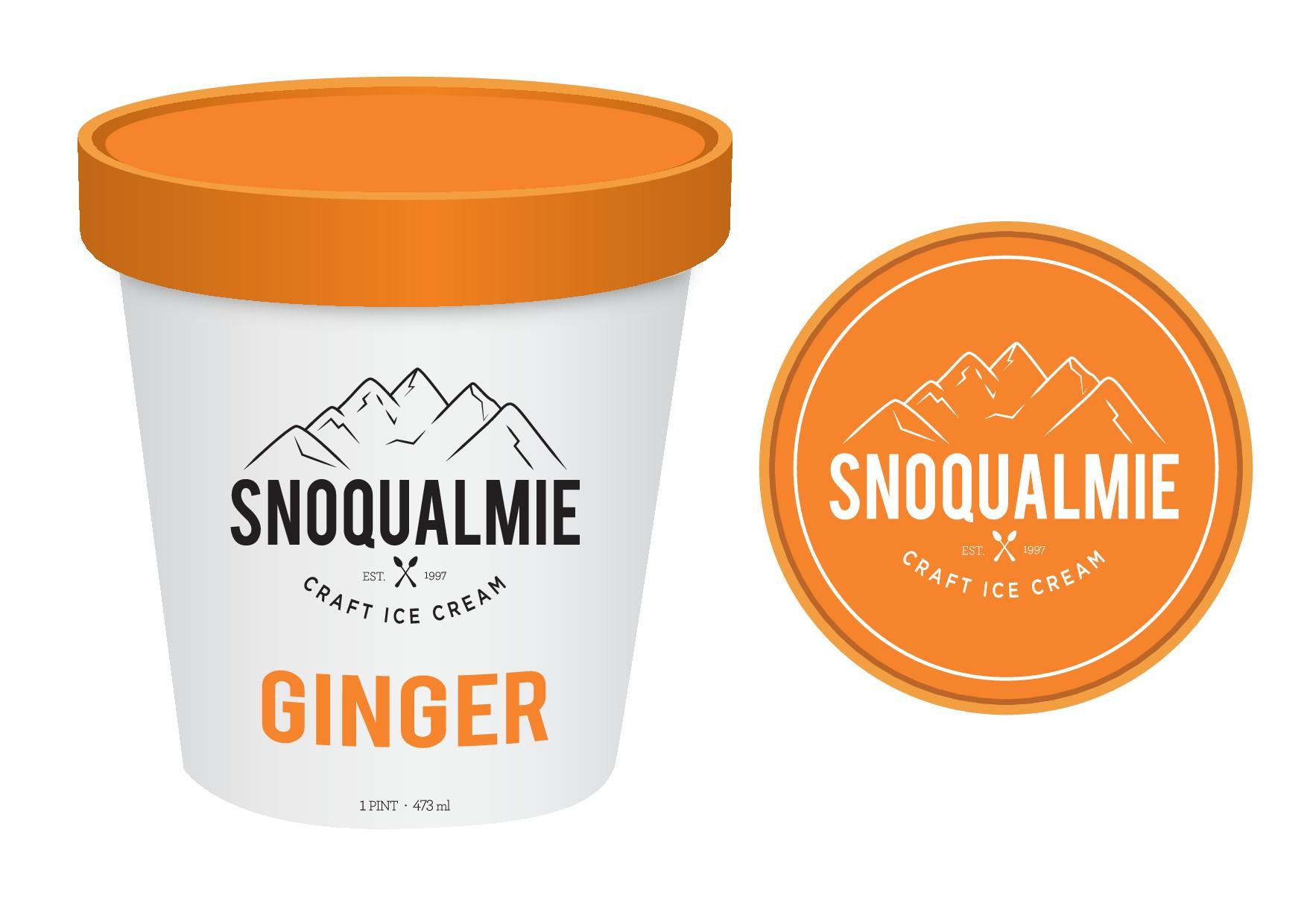 Super-Premium Ice Cream Label Design