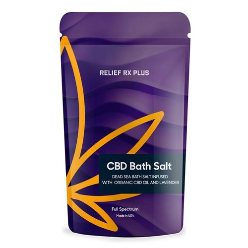A Bath CBD Oil Salt Packaging