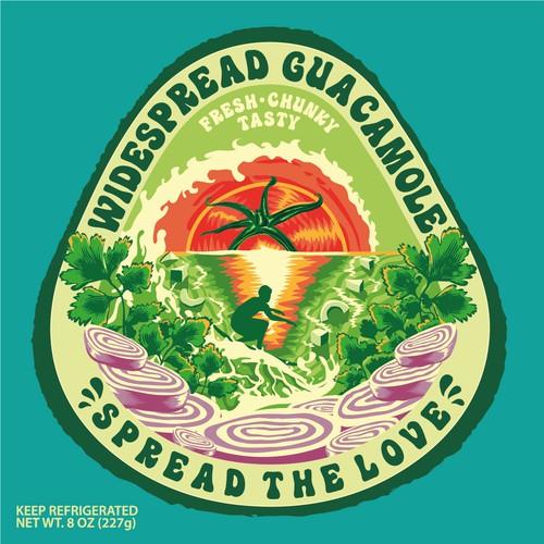 Fresh & Fun Guacamole Label Design