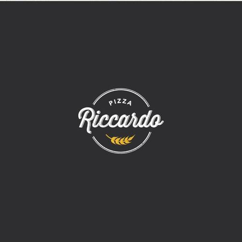 """Logo design for """"Pizza Riccardo"""" - Wood-fired Pizza Restaurant"""