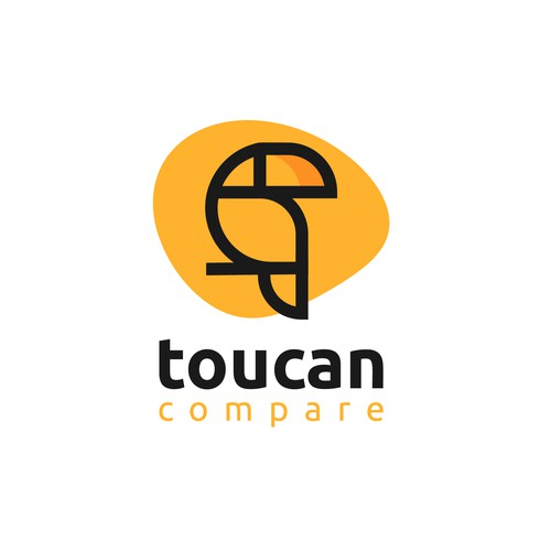 logo concept for toucan compare