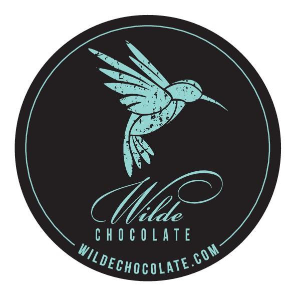 Organic Chocolate Bar Label Design + Hummingbird Logo