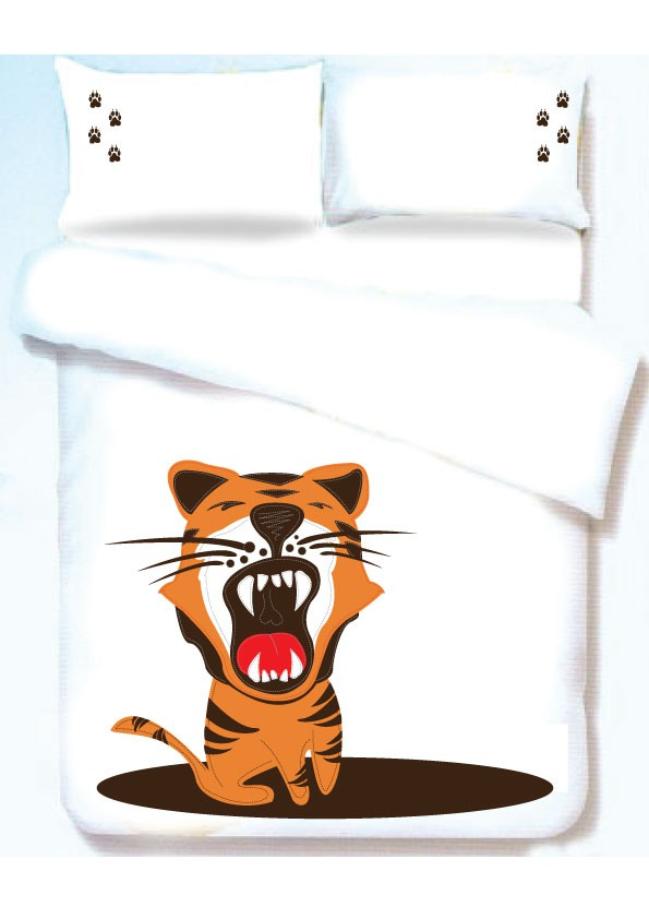 Create a roaring tiger design for The Curious Roar