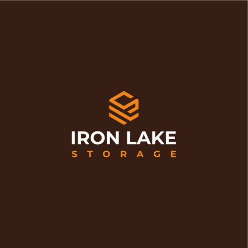 Cubical logo for self-storage units: Iron Lake Storage
