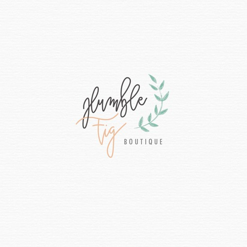 Hand lettered logo for a botique