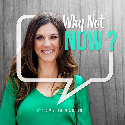 itunes cover concept for Amy Jo Martin show's.