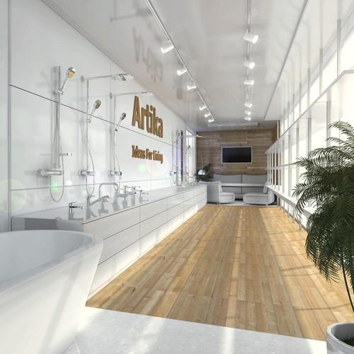Design a premium mobile showroom