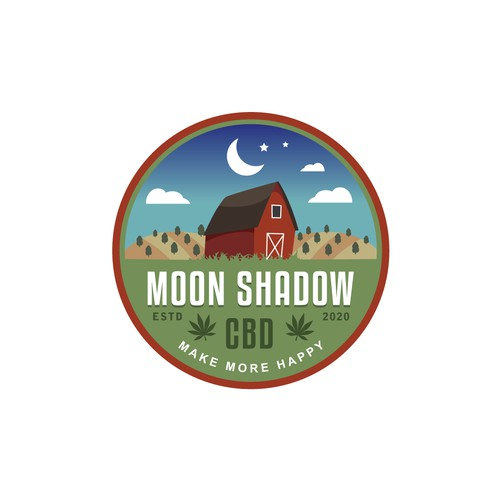 Logo concept/badge Moon Shadow CBD