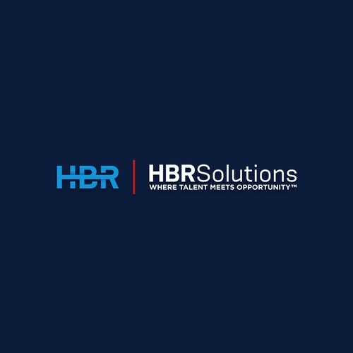 HBR Solutions Logo Design