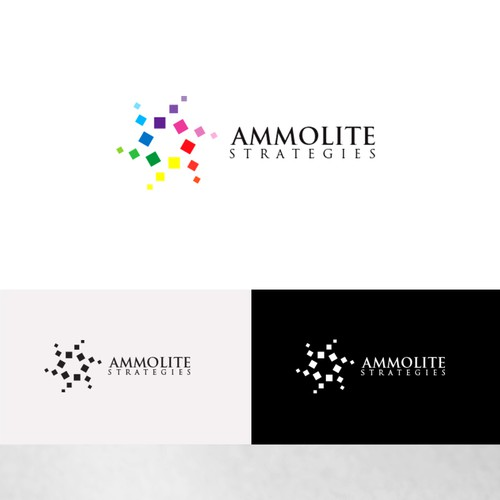Create a fresh innovative design for Ammolite Strategies