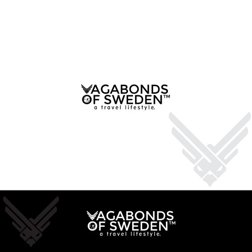 Freedom eagle logo for vagabond of sweden