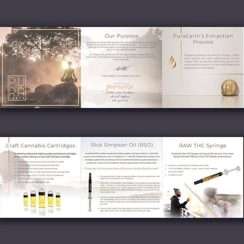 Brochure for a CBD Vaping Company