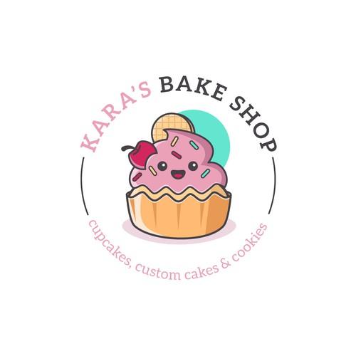 Cute cupcake design for a bake shop