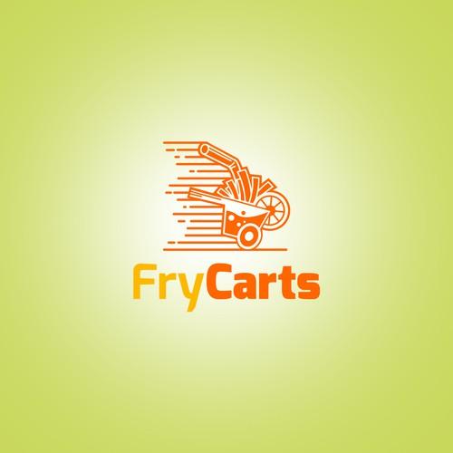 Logo design concept for Fry Carts