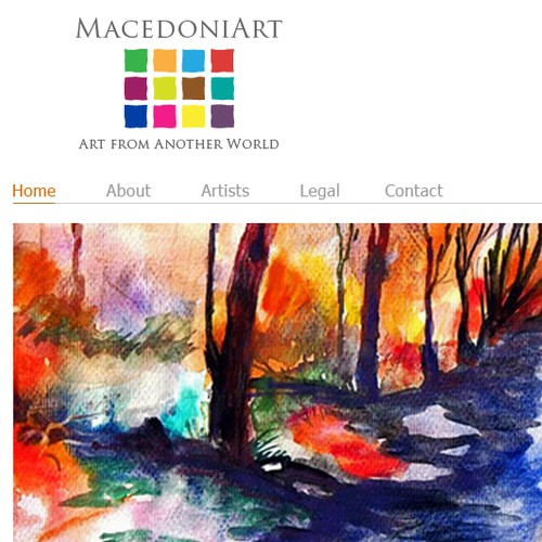 Site concept and page design for European art site