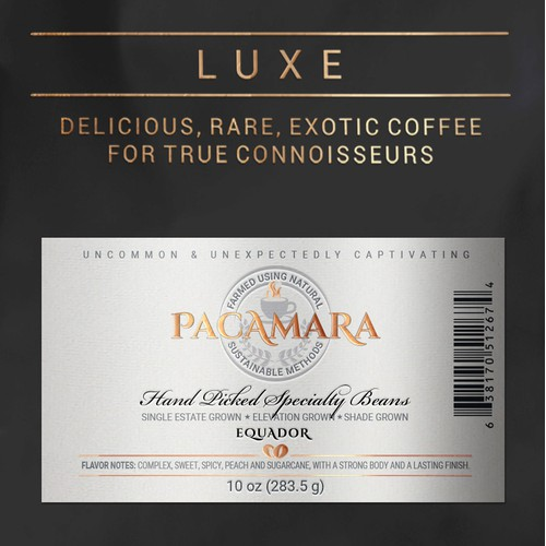 Design of Labels for Coffee Package