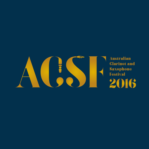 Create a standout logo for the 2016 Australian Clarinet and Saxophone Festival