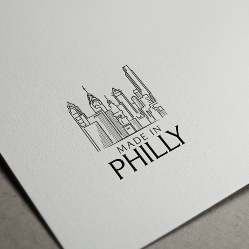 Philadelphia city skyline Logo concept