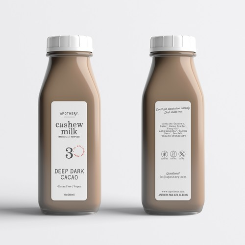 Label design for hemp cashew milk