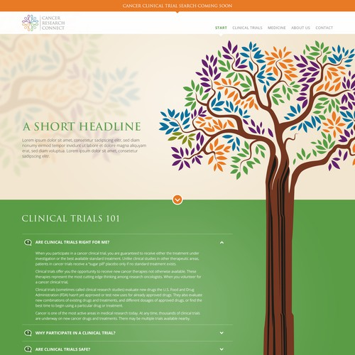 Web design for Medical Research Program