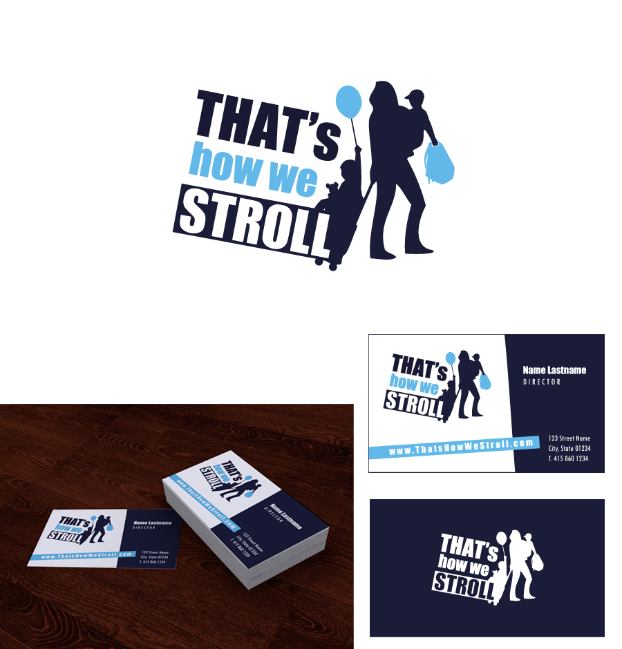 That's How We Stroll - Travel experts need logo& cards for website and books.