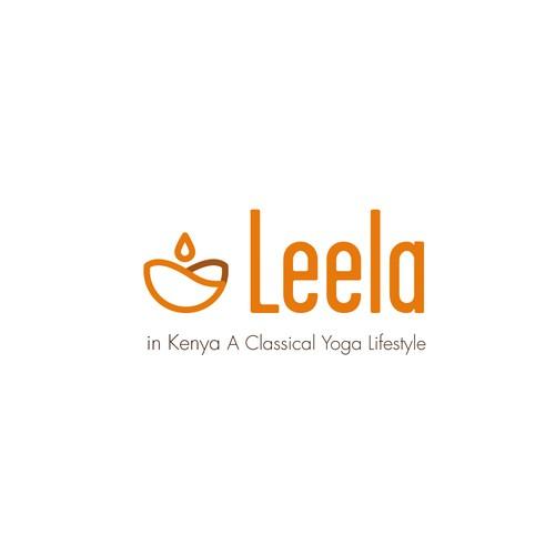 logo crée pour Leela Yoga lifestyle
