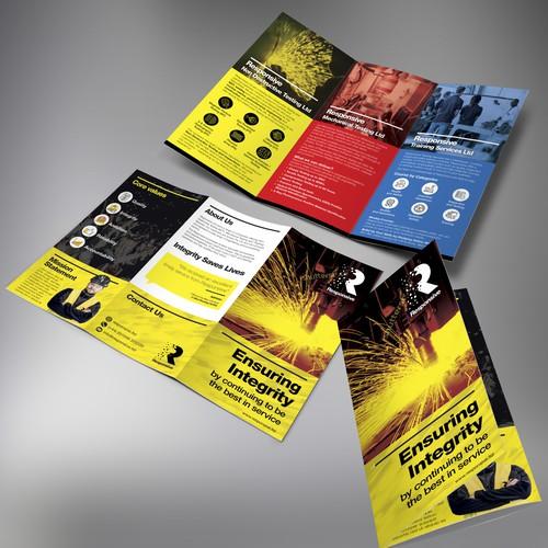 Responsive tri-fold brochure design