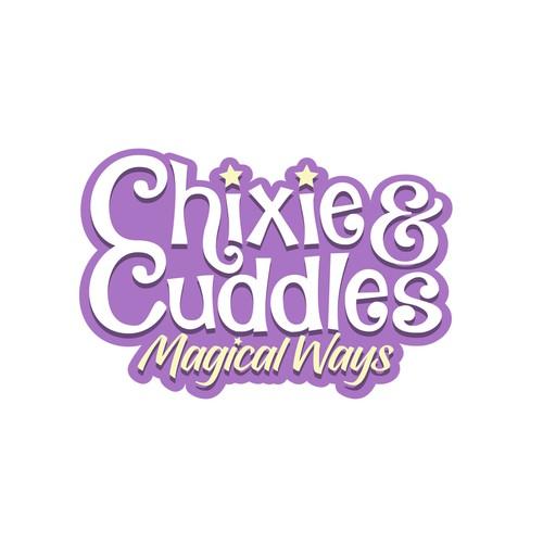 Chixie & Cuddles logo design.