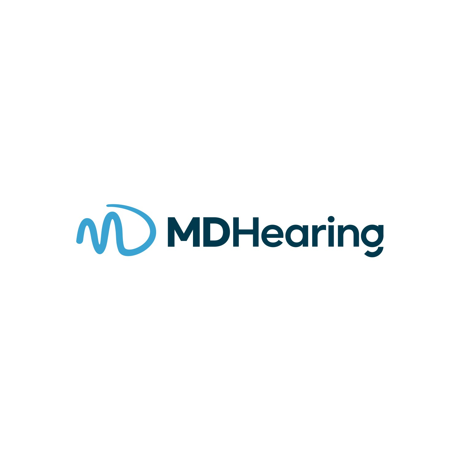 Logo- MDHearing (product high quality hearing aids for seniors)